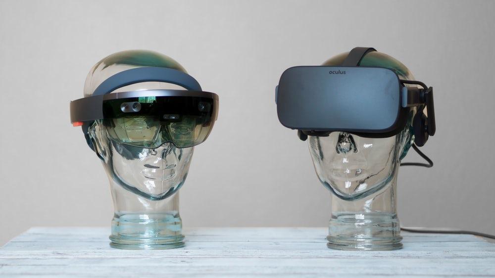 AR- und VR-Brille im direkten Vergleich. Quelle: www.vrvisiongroup.com